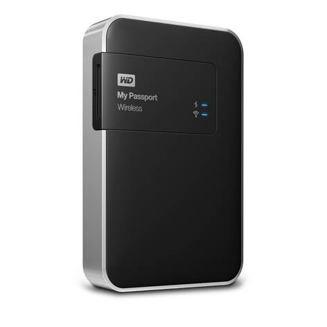 "Ext.HDD 2.5"" WD My Pass.Wireless 1TB USB3.0, SD"