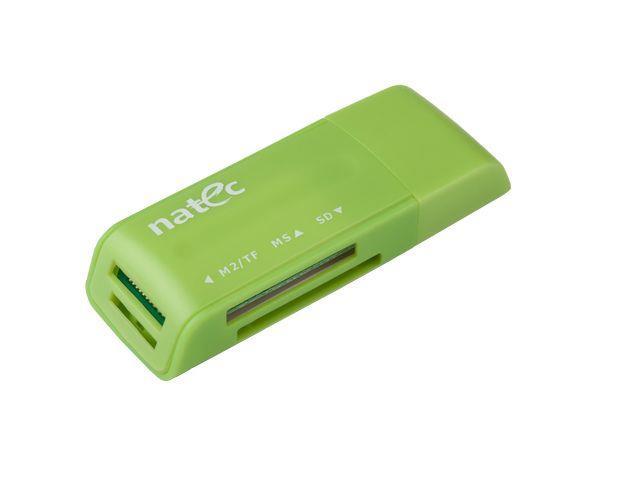 Natec MINI ANT 3 Čtečka karet SDHC/MMC/M2/MicroSD USB 2.0, zelená
