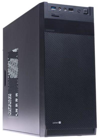 CONNECT IT PC skříň CI-416 MidiTower Vector, bez zdroje, černý