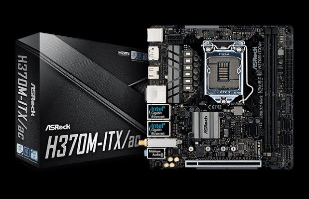 ASRock H370M-ITX/AC, INTEL H370 Series, LGA1151, 2 DDR4, 6 x SATA3, MINI-ITX