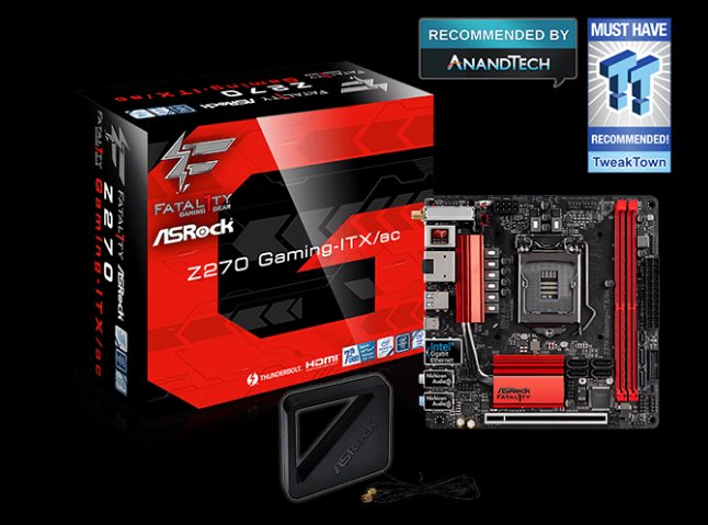 ASRock Z270 Gaming-ITX/ac, INTEL Z270 Series, Mini-ITX