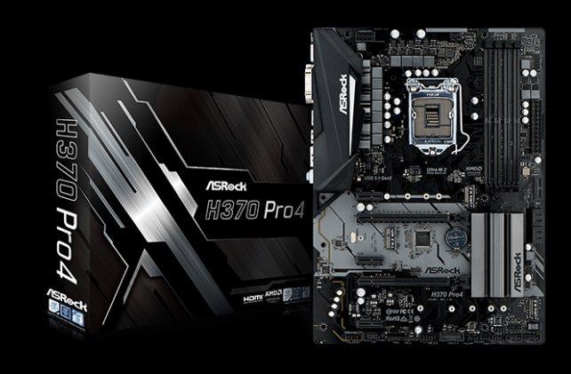 ASRock H370 PRO4, INTEL H370 Series, LGA1151, 4 DDR4, 6 x SATA3