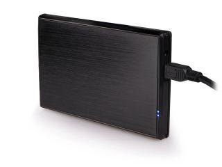 Natec RHINO Externí box pro 2.5'' SATA HDD, USB 2.0, hliníkový, černý