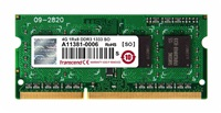 SODIMM DDR3 4GB 1333MHz TRANSCEND JetRam™, 512Mx8 CL9, retail