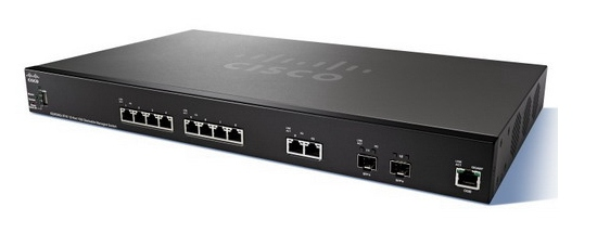 Cisco SG350-10 10-port Gigabit POE Managed Switch RE