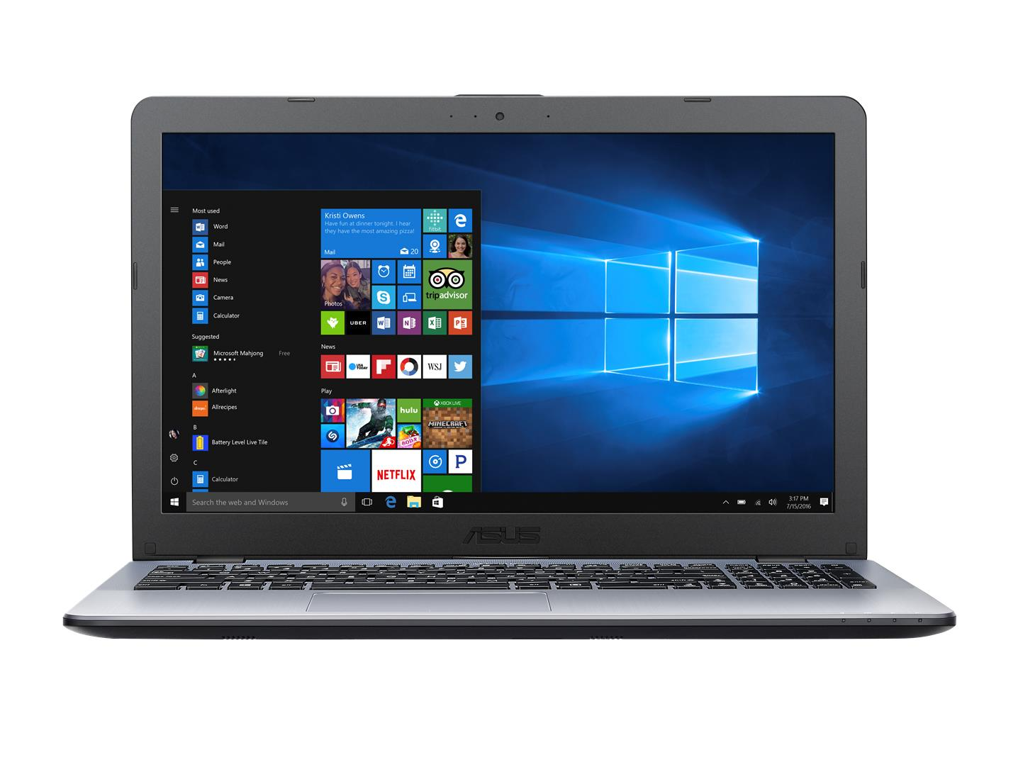 "ASUS X542UF-DM206T i7-8550U/8GB/256GB SSD/DVDRW/GeForce MX130 2GB/15,6"" FHD matný/W10 Home/Silver"