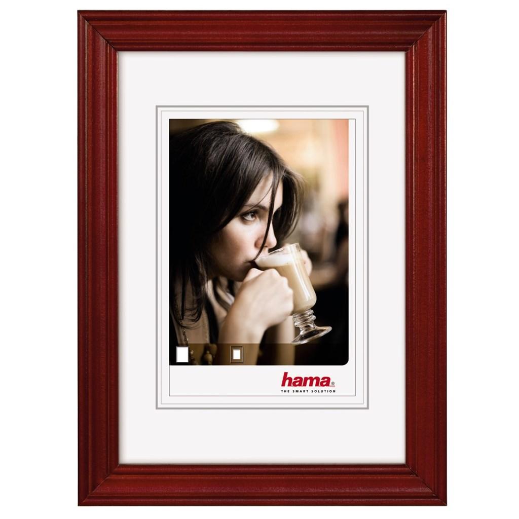 Hama rámeček dřevěný UDINE, burgund, 15x20 cm