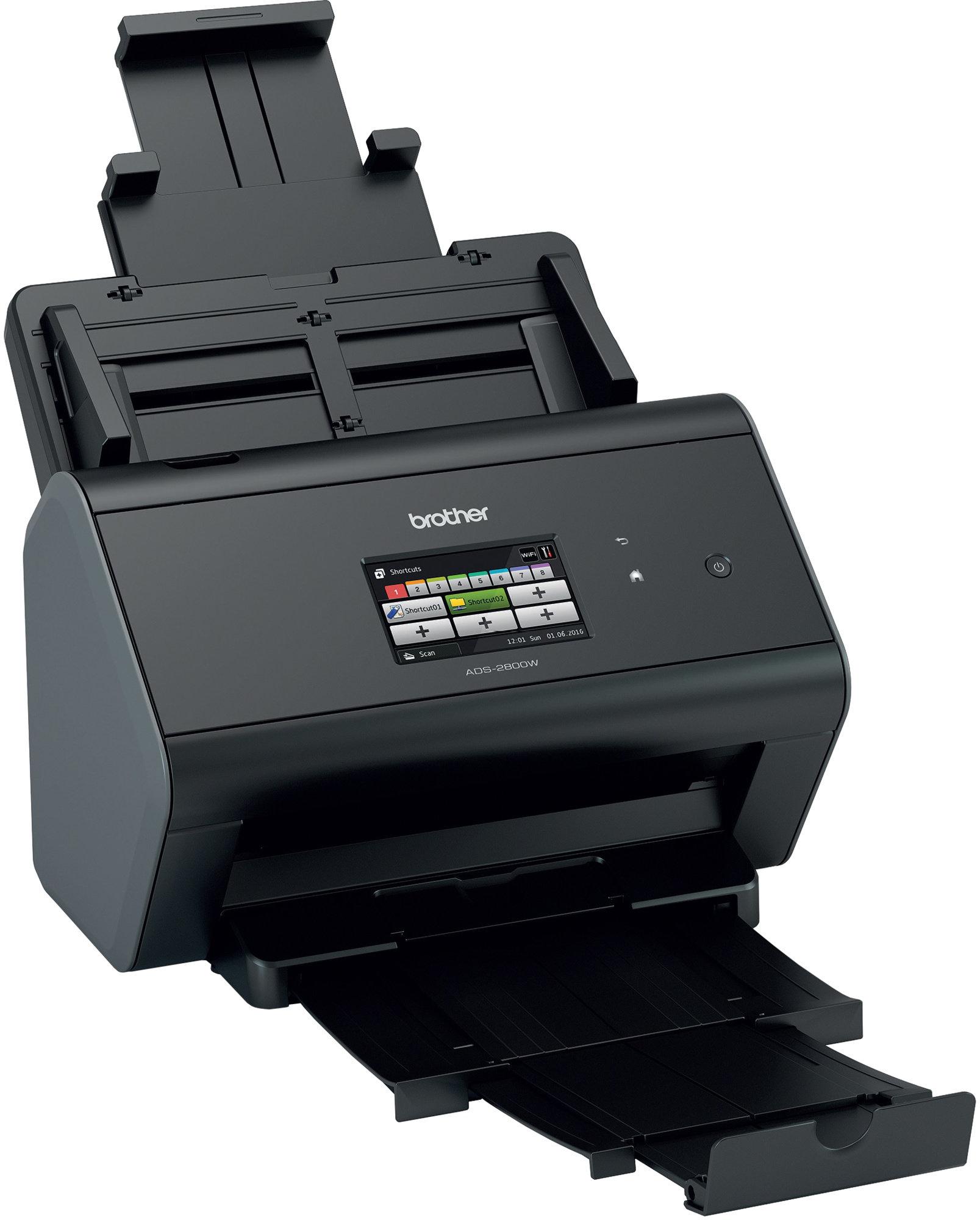 BROTHER skener ADS-2800W DUALSKEN (až 30 str/min, 600 x 600 dpi, aut.duplex, LCD,512MB) WiFi+LAN