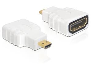 Delock HDMI adaptér A/samice > micro D/samec, Ethernet (HEC)