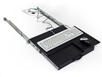 TRITON Police výsuvná/otočná pro klávesnici a myš, šedá