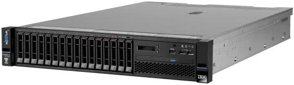 Lenovo SRV x3650 M5, Xeon 6C E5-2620v3 85W 2.4GHz/1866MHz/15MB, 1x8GB, O/Bay HS 2.5in SATA/SAS,SR M5210,M-burn,550W