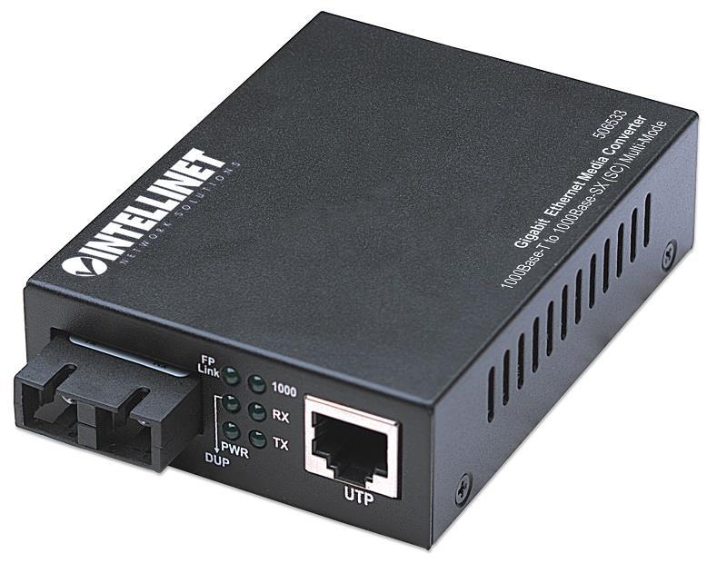 Intellinet Media konwerter 1000Base-T RJ45 / 1000Base-SX (MM SC) 550m