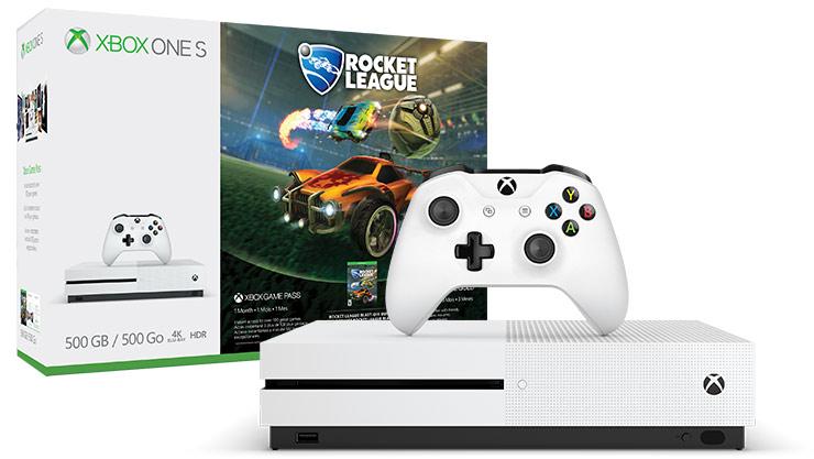 XBOX ONE S - 500GB + Rocket League + Xbox Live 3