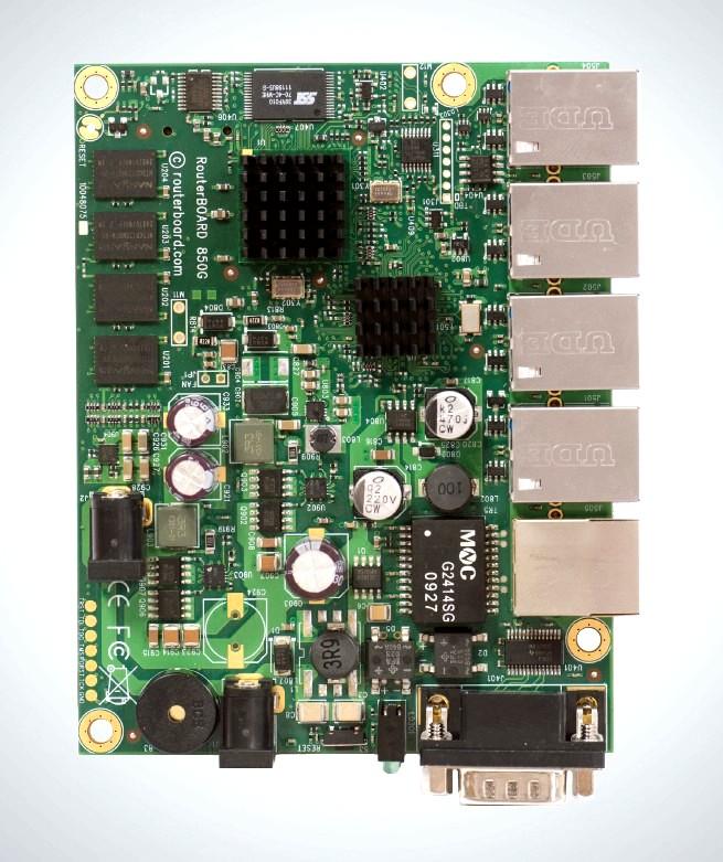 MikroTik RouterBOARD RB850Gx2, RouterOS L5, 5xGLAN, Dual Core 500MHz PowerPC CPU, 512MB RAM