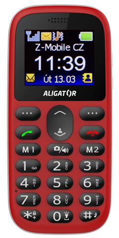 ALIGATOR A510 Senior červený + stolní nabíječka