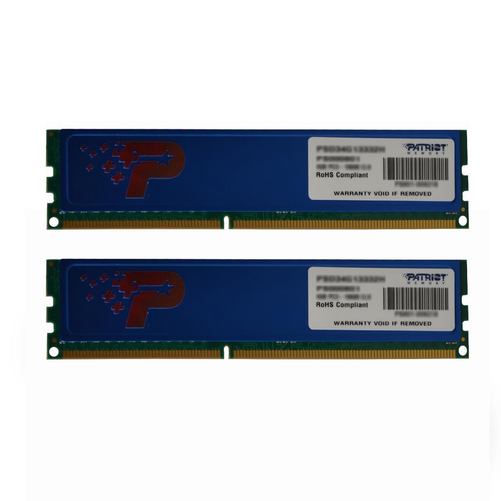 Patriot 2x4GB 1600MHz DDR3 CL11 DIMM s modrým chladičem