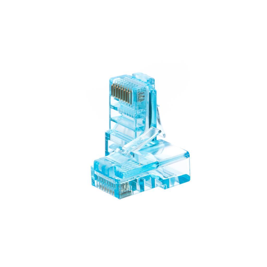 Netrack GoldMax 50u konektor RJ45 8p8c, UTP drát, cat. 5e (100 ks), modrý
