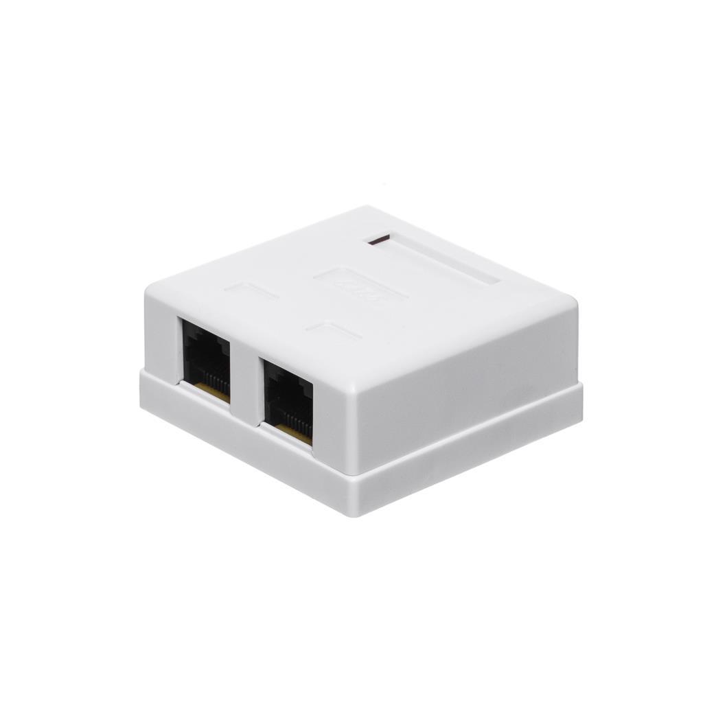 Netrack zásuvka kompletní na omítku 2xRJ45 8p8c UTP cat. 6 LSA
