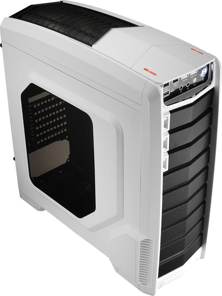 PC skříň Aerocool ATX GT-A WHITE, USB 3.0, bez zdroje, bílá