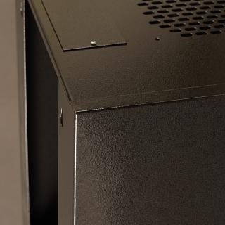 Závěsný datový rozvaděč 10'' Netrack 9U/300 mm, skleněné dveře, barva grafit
