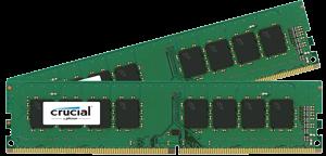 Crucial 2x8GB DDR4-2133 UDIMM, NON-ECC, CL15