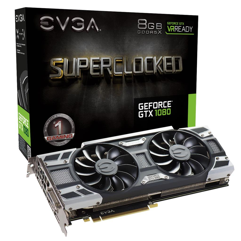 EVGA GeForce GTX 1080 SC GAMING ACX 3.0, 8GB GDDR5X (256 Bit), HDMI, DVI, 3xDP