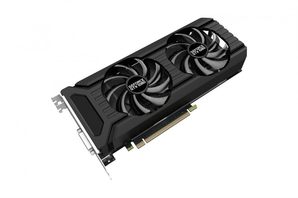 PALIT GeForce GTX 1080 Dual OC 8GB, HDMI + 3*DP + Dual DVI-I