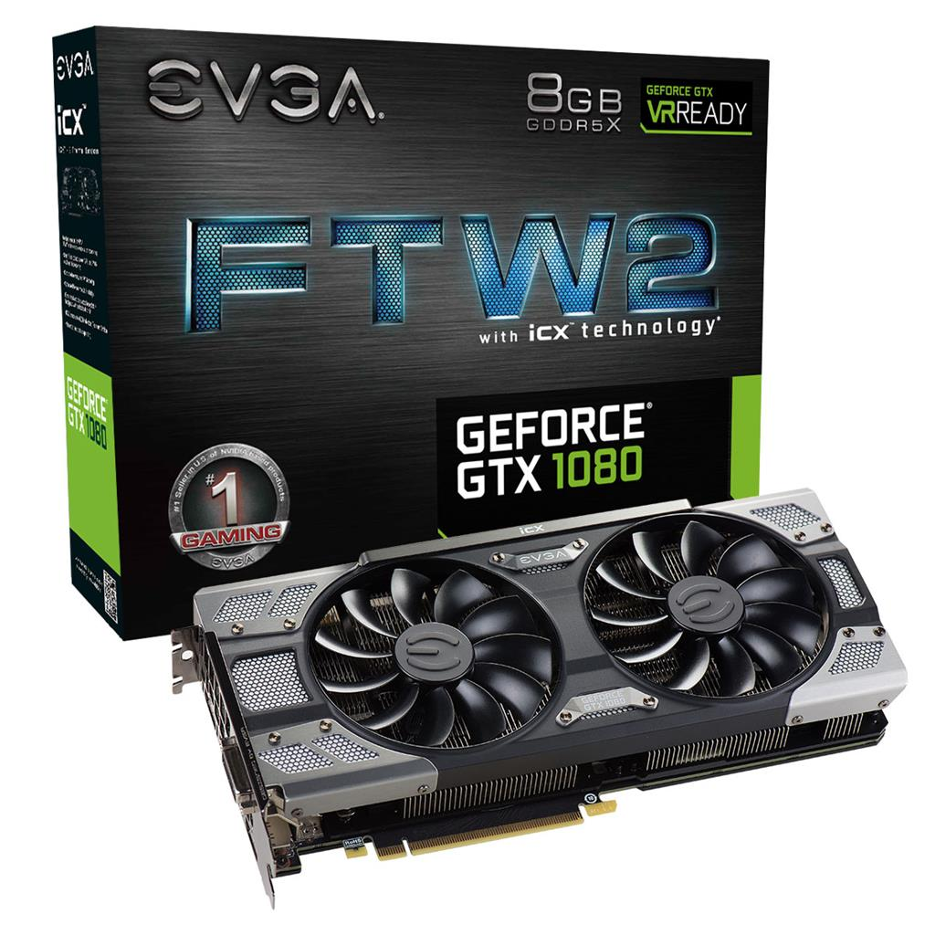 EVGA GeForce GTX 1080 FTW2 GAMING, 8GB GDDR5X, HDMI, DP