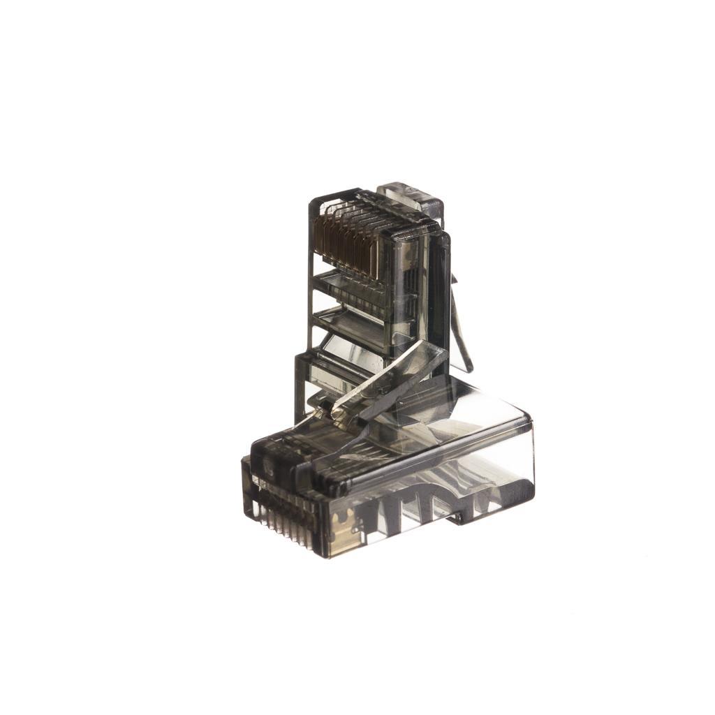Netrack GoldMax 50u konektor RJ45 8p8c, UTP lanko, cat. 5e (100 ks), černý