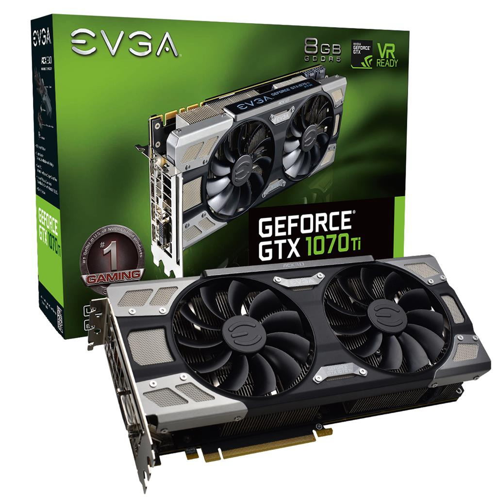 EVGA GeForce GTX 1070 Ti Ultra Silent Gaming 8GB GDDR5, ACX 3.0