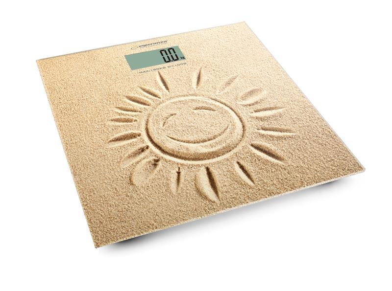 Esperanza EBS006 SUNSHINE osobní digitální váha, vzor písek