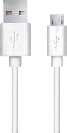 Esperanza EB172W Kabel Micro USB 2.0 A-B M/M 0.8m, bílý