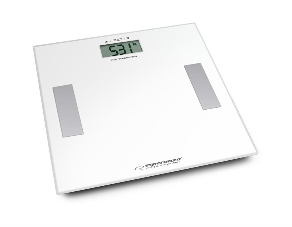 Esperanza EBS014W SHARP osobní digitální váha 3v1, bílá