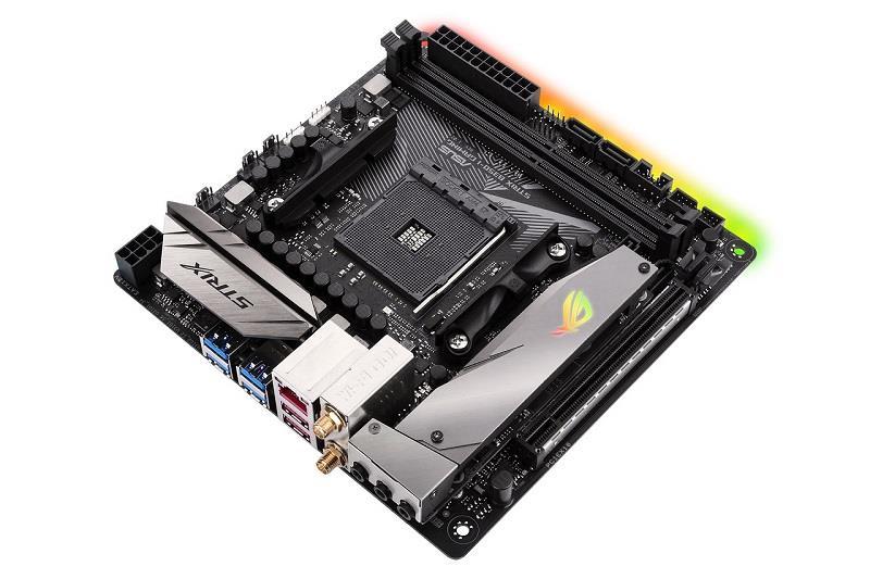 ASUS ROG STRIX B350-I GAMING, AM4 B350 ATX, USB 3.1 Gen2, 802.11ac Wi-Fi, DDR4
