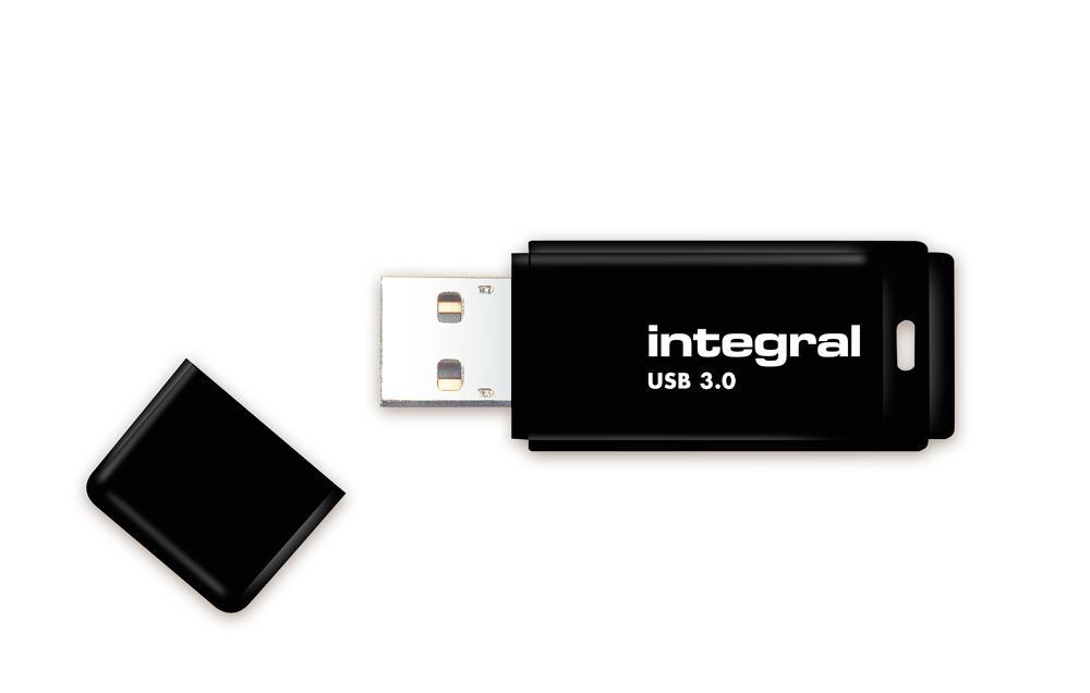 INTEGRAL USB flashdisk 8GB, USB 3.0, černá