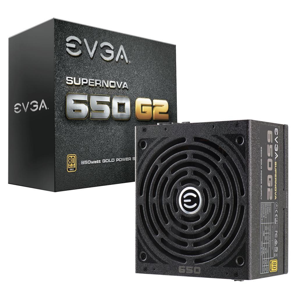 EVGA zdroj SuperNOVA 650 G2, 650W, 80 PLUS Gold, modulární