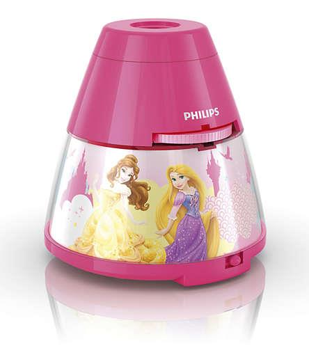 Philips Disney 2 w 1 71769/28/16 Princess, LED, Pink