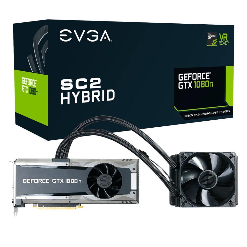 EVGA GeForce GTX 1080 Ti SC2 HYBRID GAMING, 11GB GDDR5X, HYBRID & LED