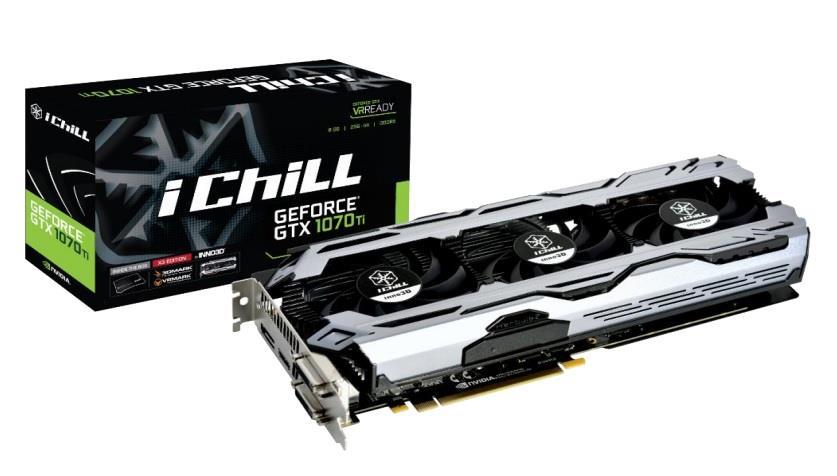 Inno3D iChill GeForce GTX 1070 Ti X3 V2 ,8GB GDDR5 ,Dual DVI/HDMI/DP (256-bit)