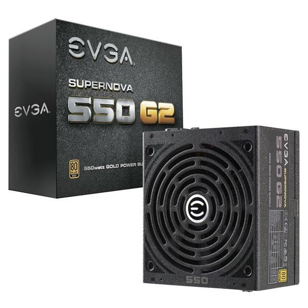 EVGA zdroj SuperNOVA 550 G2, 550W, 80 PLUS Gold, modulární