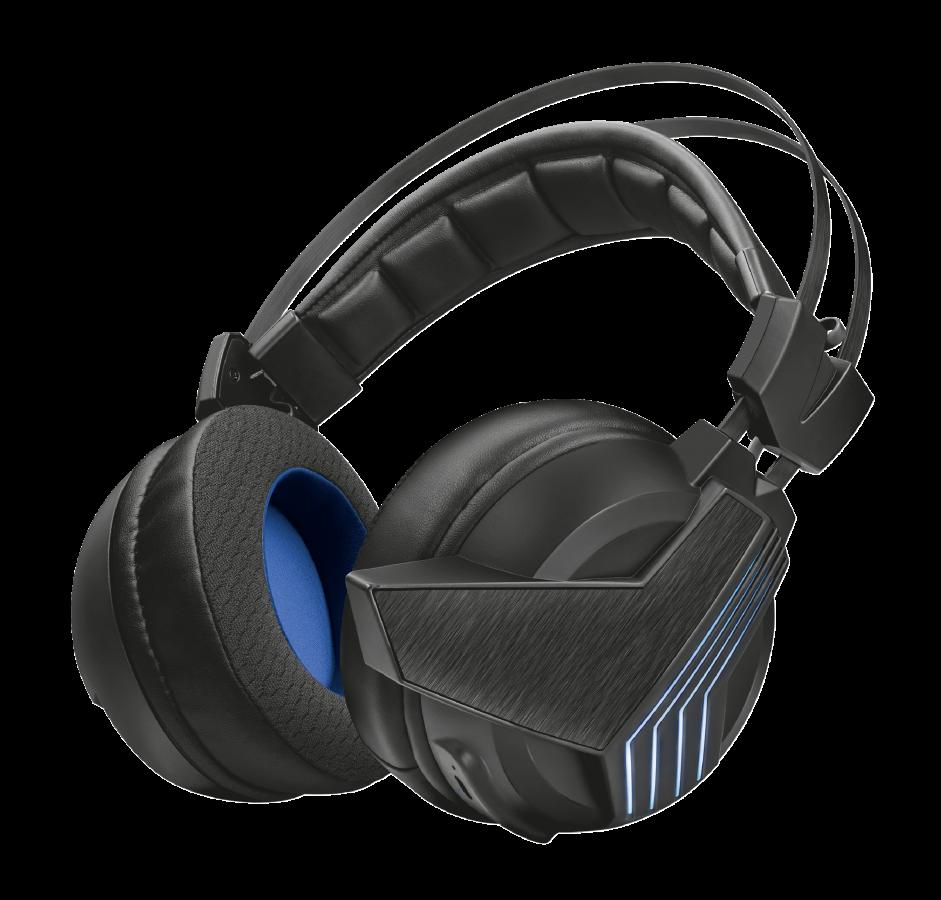 náhlavní sada TRUST GXT 393 Magna Wireless 7.1, gaming