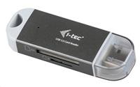 i-tec USB 3.0 DUAL Card Reader micro / SDXC -šedá