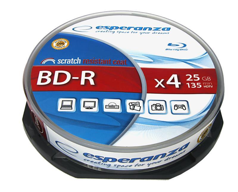 Esperanza Blu-ray BD-R [ Cake Box 10 | 25GB | 4x ]