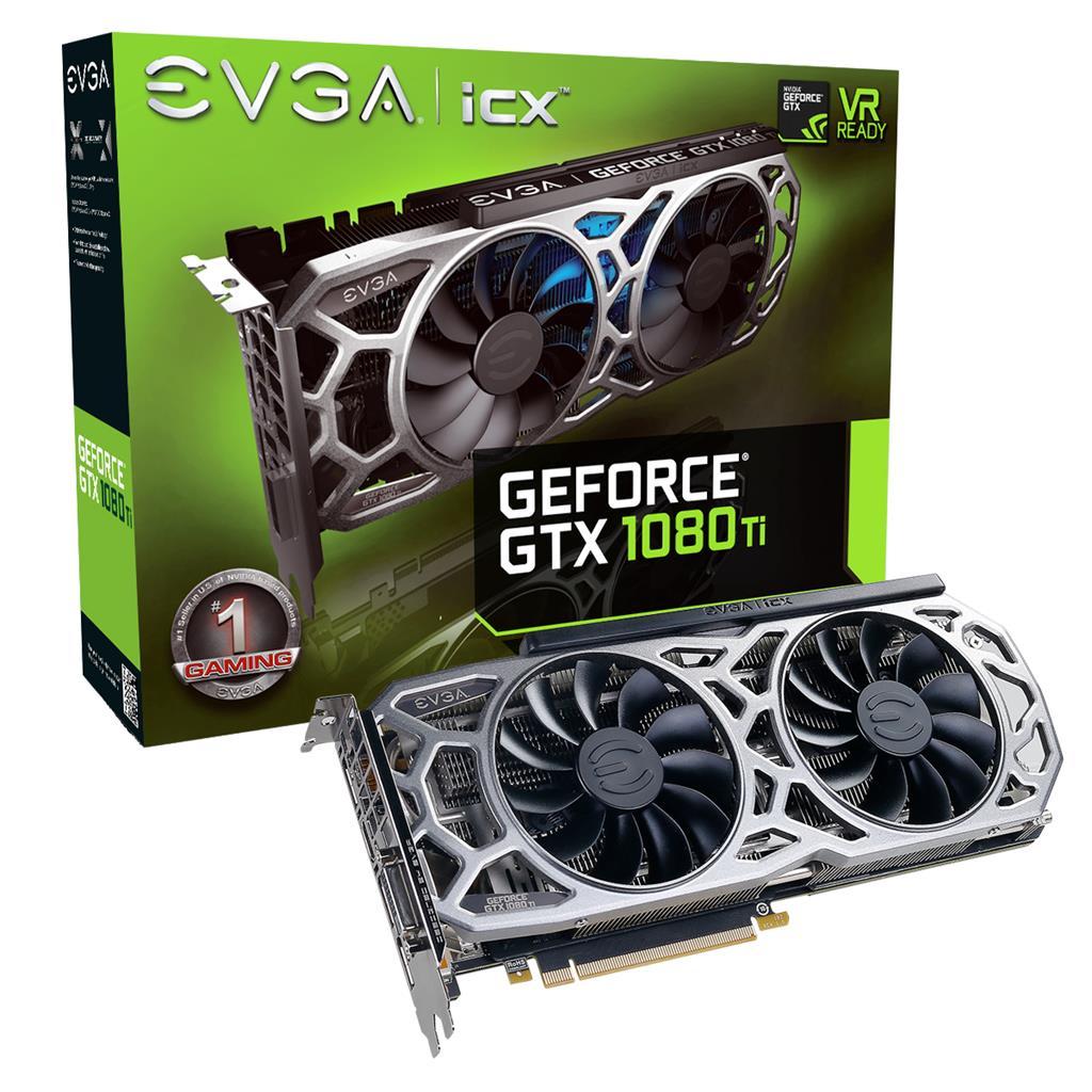 EVGA GeForce GTX 1080 Ti SC2 GAMING, 11GB GDDR5X, HDMI/DP/DVI