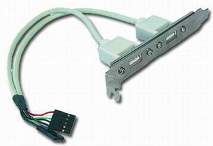 Gembird vývod 2x USB z MB na záslepku skříně, kabel 25cm, bulk