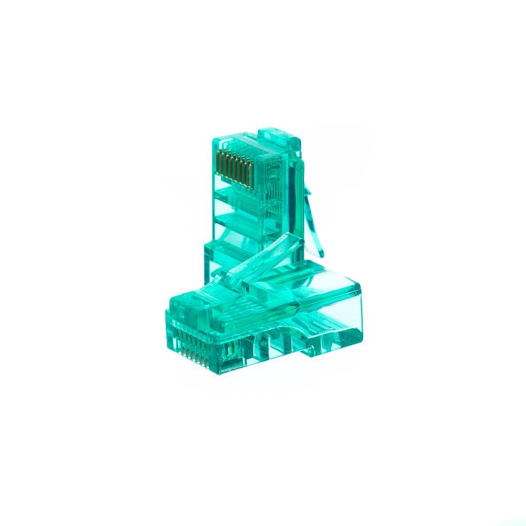 Netrack konektor RJ45 8p8c, UTP drát, cat. 5e (100 ks), zelený