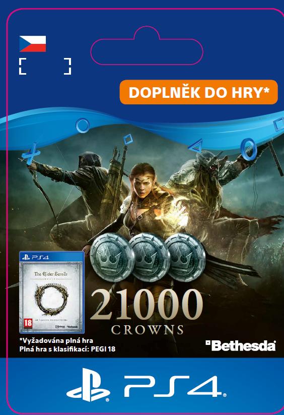 ESD CZ PS4 - The Elder Scrolls® Online: 21000 Crowns