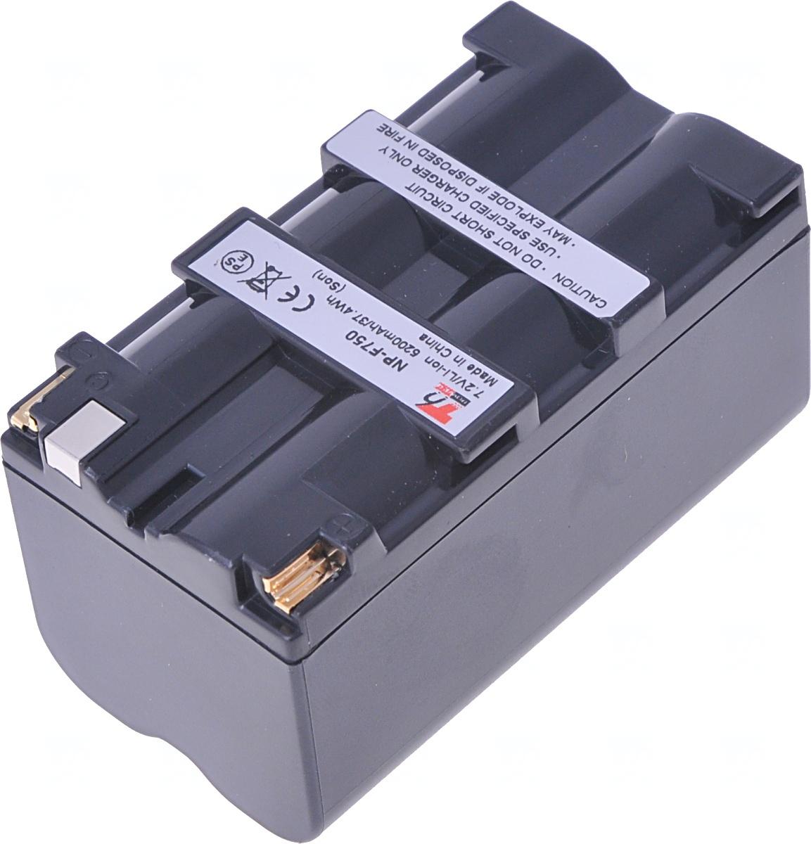 Baterie T6 power Sony NP-F750, NP-F730H, NP-F730, NP-F770, 5200mAh, 37,4Wh, šedá
