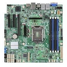 Intel® Server Board S1200SPLR 1xLGA1151, C236, 4xDDR4, 8xSATA, (2,1x PCI-E 3.0 x8,x4), I/O Exp. module,2x1GbE