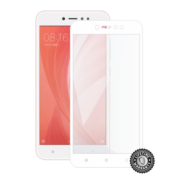 Screenshield XIAOMI RedMi Note 5A Global Tempered Glass protection (full COVER white)